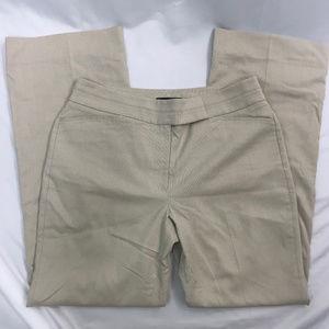 White House Black Market Beige Modern Boot Trouser